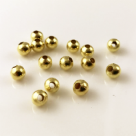 100 Gold  plated round spacer beads 5mm
